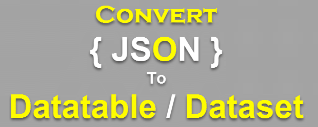 convert json to datatable c#