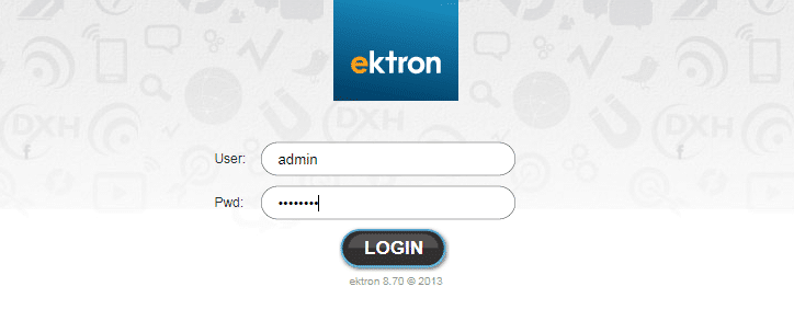 ektron login credentials
