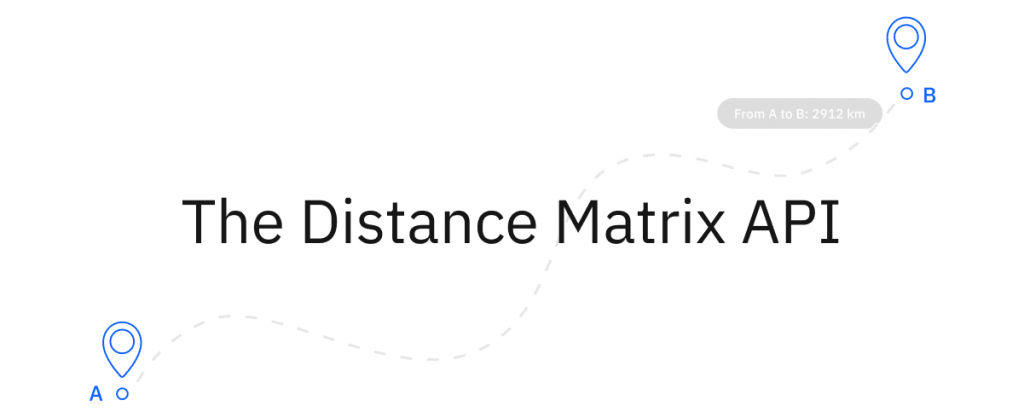 Google Maps Distance Matrix API