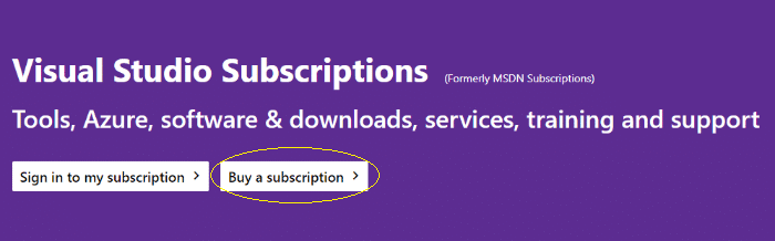 get msdn subscription
