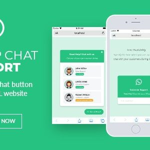 WhatsApp Chat Support jQuery Plugin