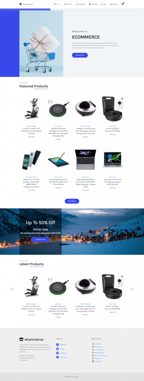 e1-ecommerce website