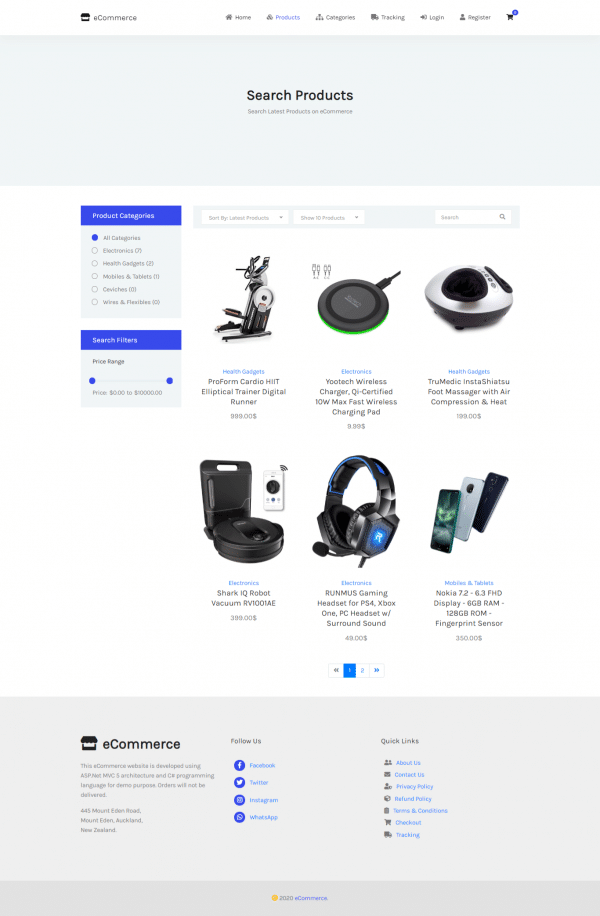 e2-ecommerce website