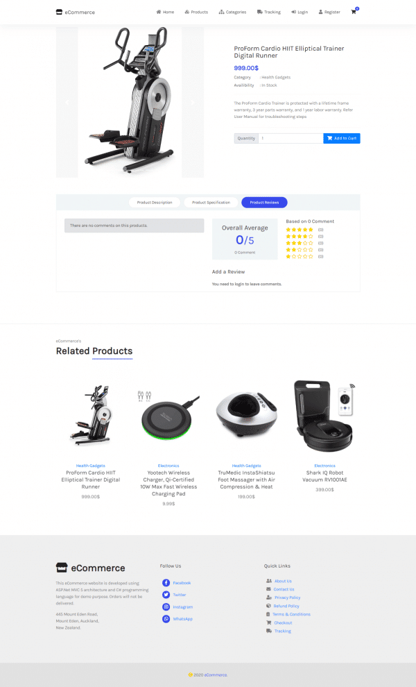 e3-ecommerce website