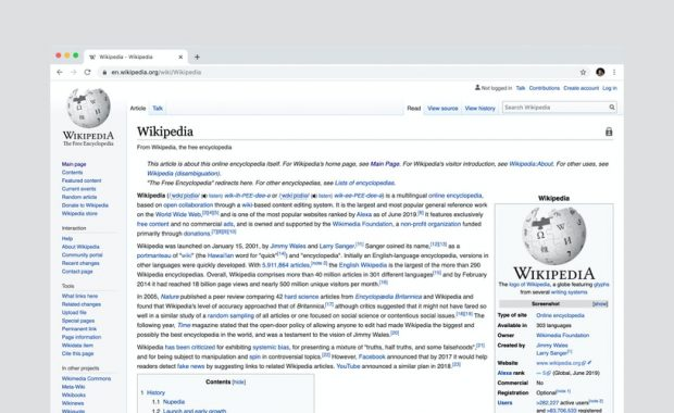 wikipedia search api javascript example