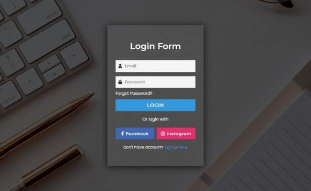 amazing transparent login form
