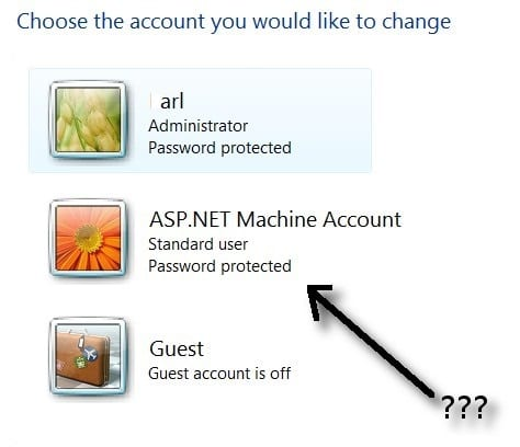 what is asp.net machine account