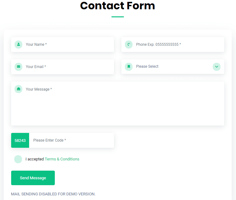 PHP Ajax Contact Form