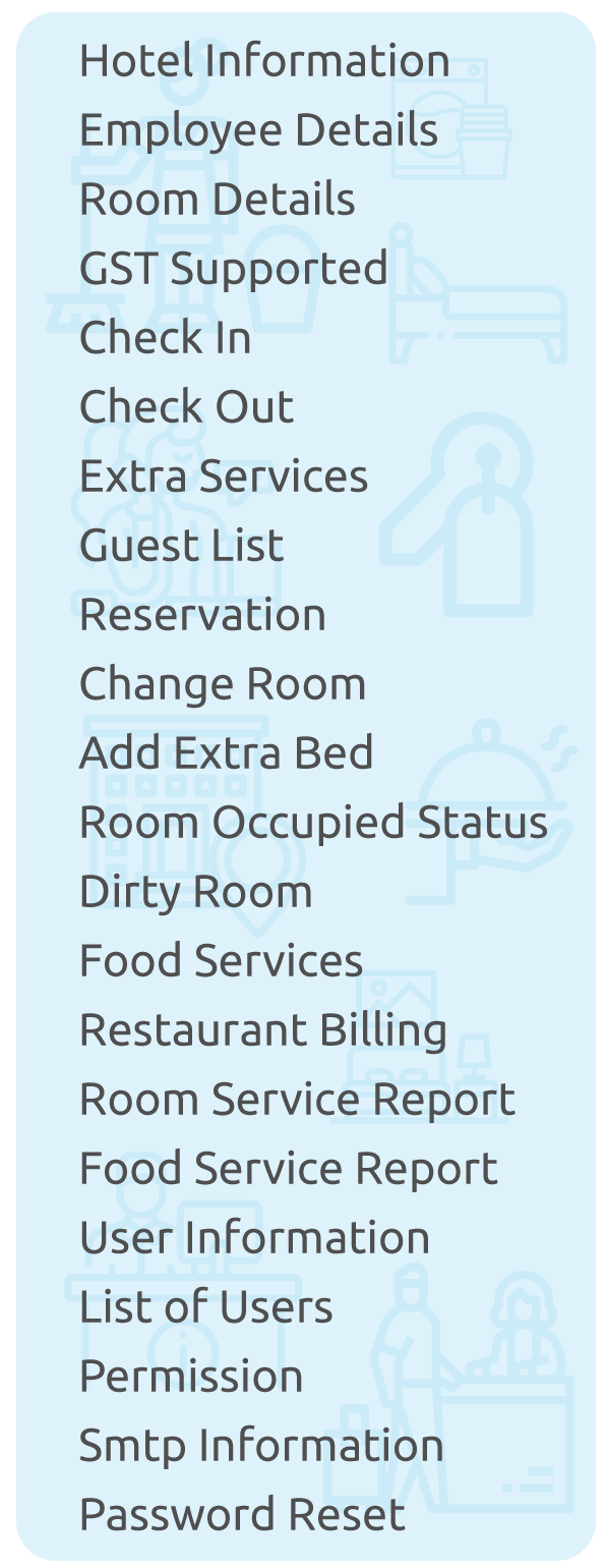 hotel management system project key features
