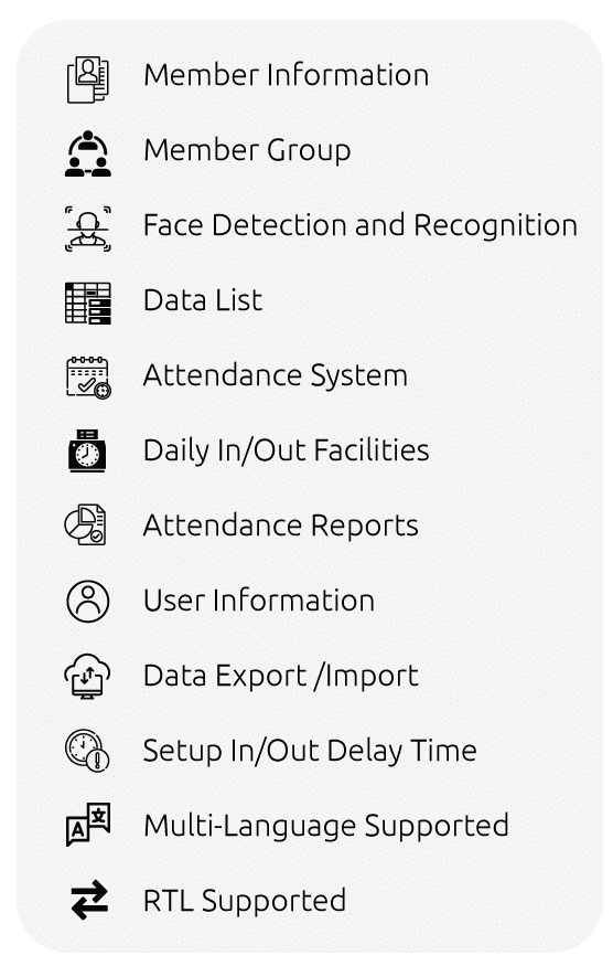 face recognition time attendance system project